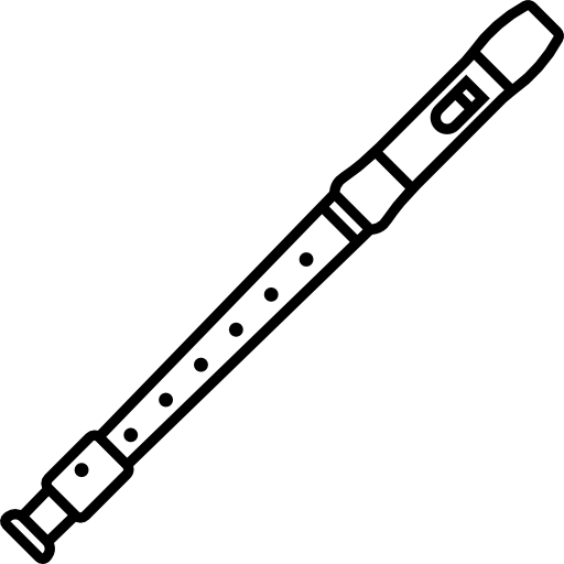 flute clipart black and white - 650×651