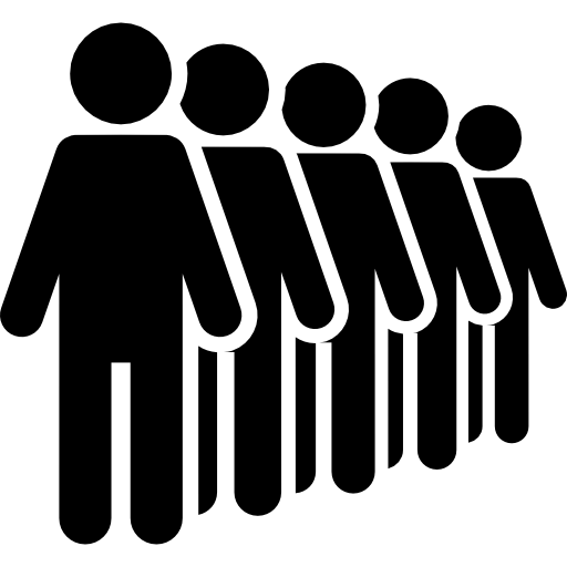 stick man, Crowd, group, people, line icon