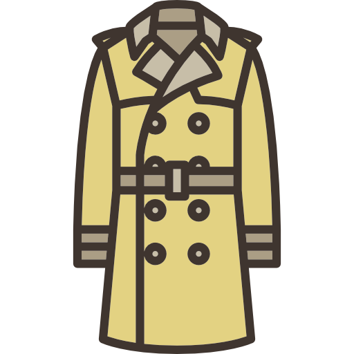 Clothing Fashion Clothes Garment Trench Coat Icon