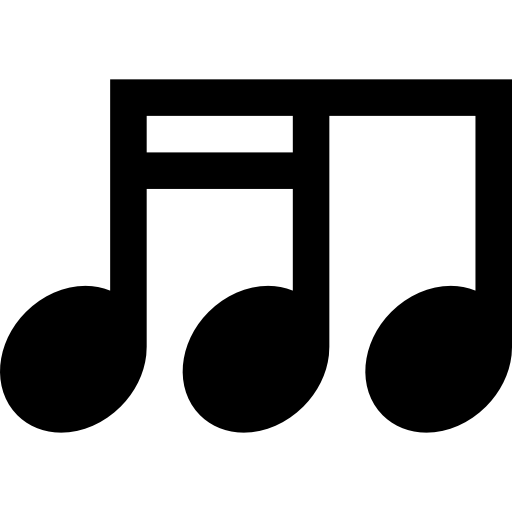 Pentagram Notation Signs Musical Sixteenth Note Music Icon