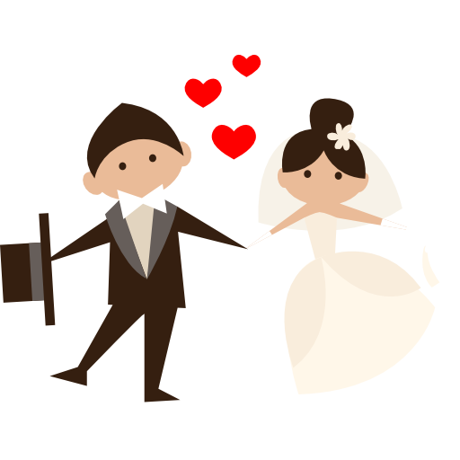 Wedding Couple Clipart Png: Groom, Bride, People, Wedding Couple, Romantic Icon