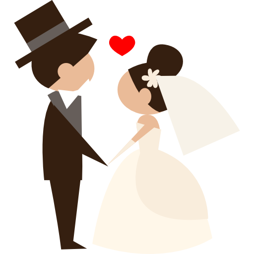 Wedding Png Transparent Free Images: Bride, Wedding Couple, Romantic, People, Groom Icon
