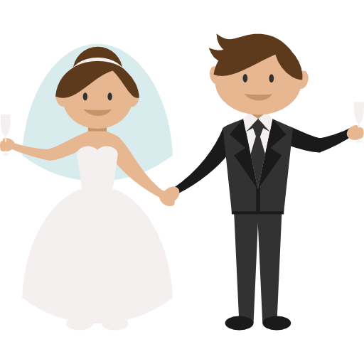 Wedding Png Transparent Free Images: Bride, People, Wedding Couple, Groom, Romantic Icon