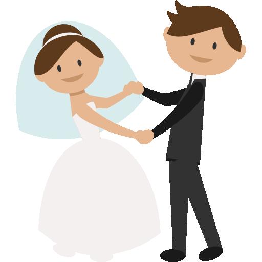 Wedding Couple Clipart Png: People, Wedding Couple, Bride, Groom, Dancing, Romantic Icon