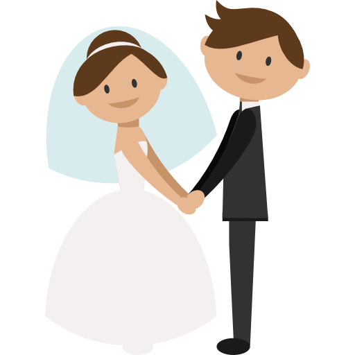 Wedding Png Transparent Free Images: Wedding Couple, People, Groom, Bride, Romantic Icon