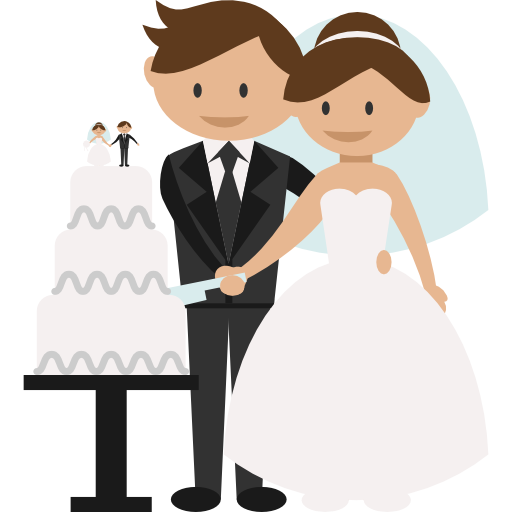 Wedding Couple Clipart Png: Groom, Romantic, People, Wedding Couple, Bride Icon