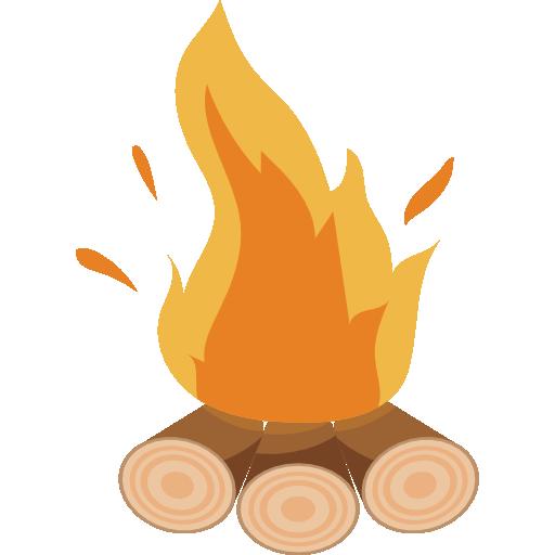 Flame, Burn, Bonfire, Camping, nature, hot, campfire icon