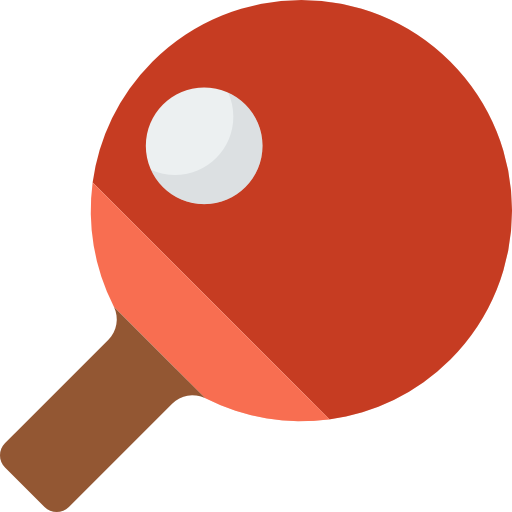 Sports Ping Pong Equipment Racket Table Tennis Icon