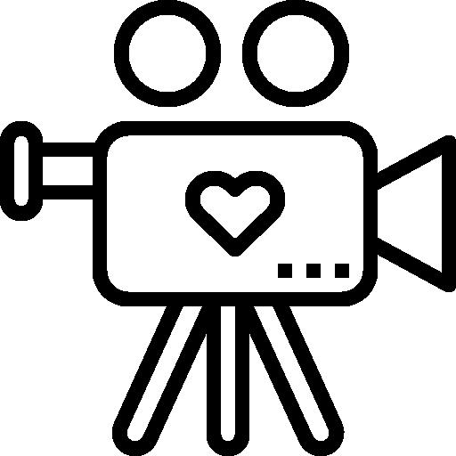 Heart Love Romantic Wedding Video Memories Film Icon