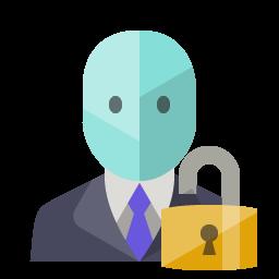 Open Lock Admin Icon