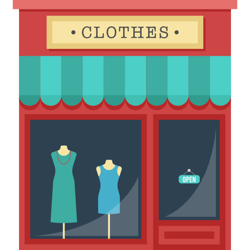Shop, Clothes, Shopping Store, Buildings, Commerce Icon