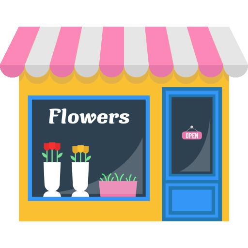 Opened Flower Commerce Buildings Store Flowers