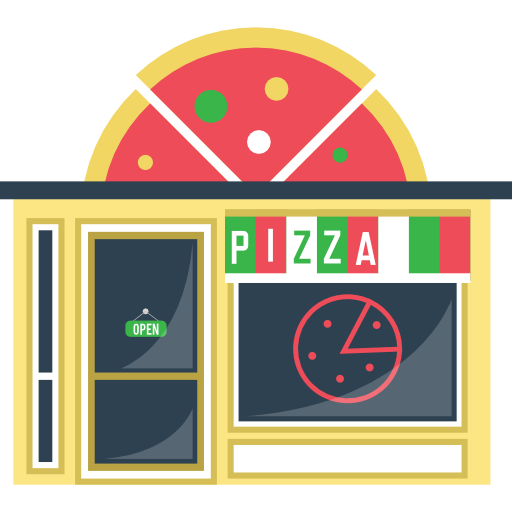 Italian Restaurant Logo With Flag: Restaurant, Junk Food, Fast Food, Pizza, Italian Food
