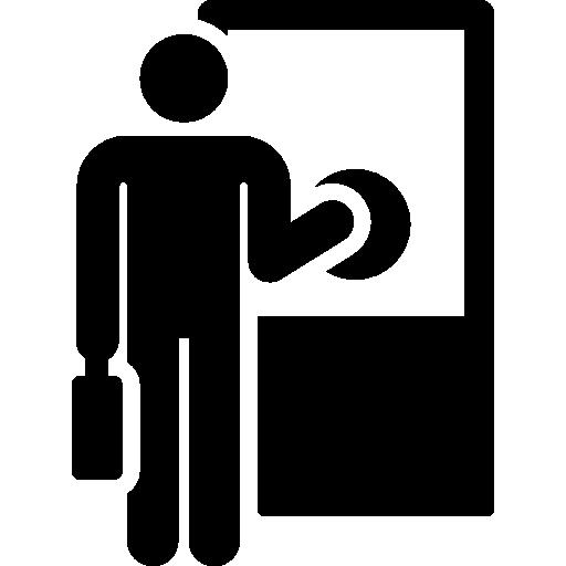 Worker, People, Knocking, Knock, Open, Door, Humanpictos