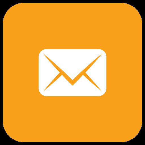 Orange Real Estate Logotypes: Send Icon, Mail, Messages, Envelope, Message, Email