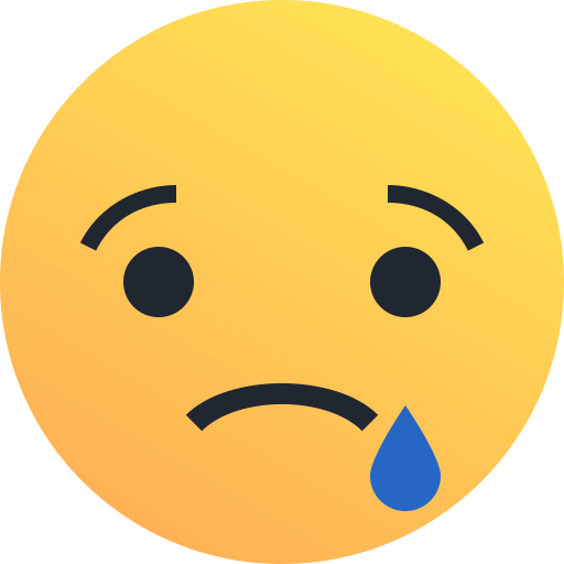 reaction, Emoji, sad, Emoticon, tear icon