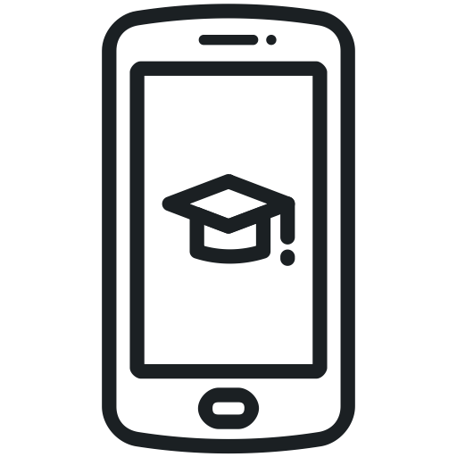 Smartphone Icon Mobile Education Learning Icon