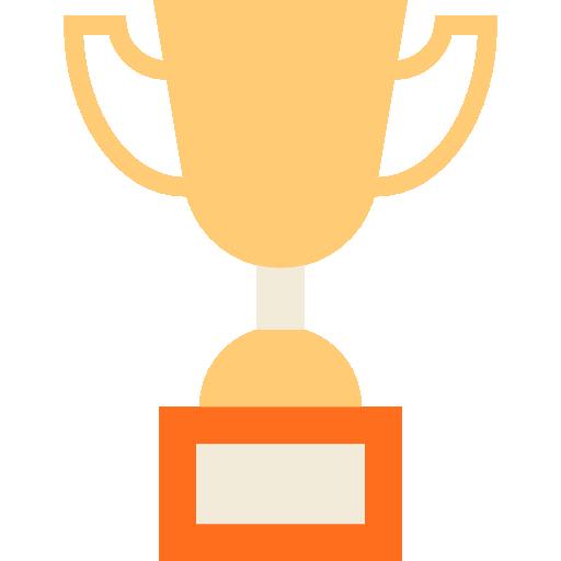 Championship Winner Champion Award Trophy Signs Icon