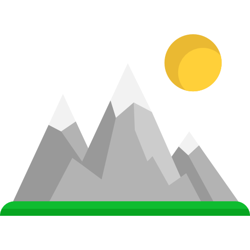 Mountains, Nature, Snow, Landscape, Altitude Icon