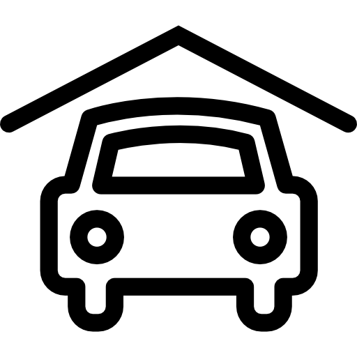 covered, outline, symbols, symbol, Garages, Car, roof ...