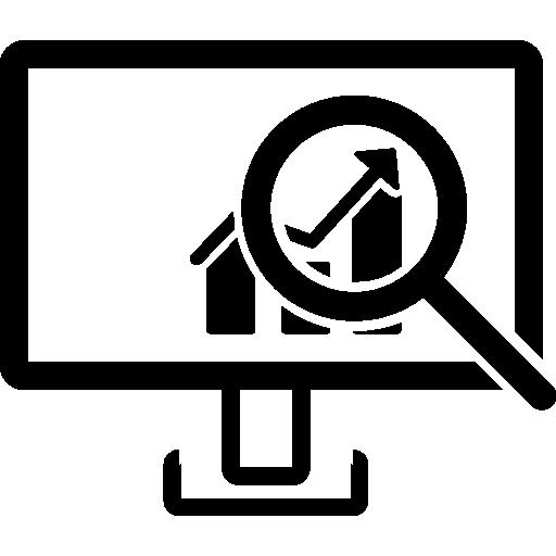 monitor, Magnifier, symbols, symbol, Data, Analysis, Data ...