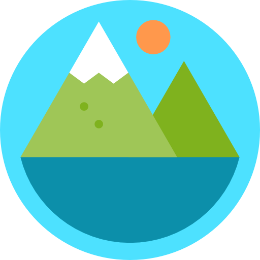 Nature Landscape Mountain Rural Lake Icon