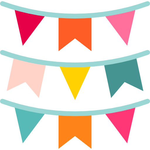 party, flags, garland, decoration, ornaments, Garlands ...
