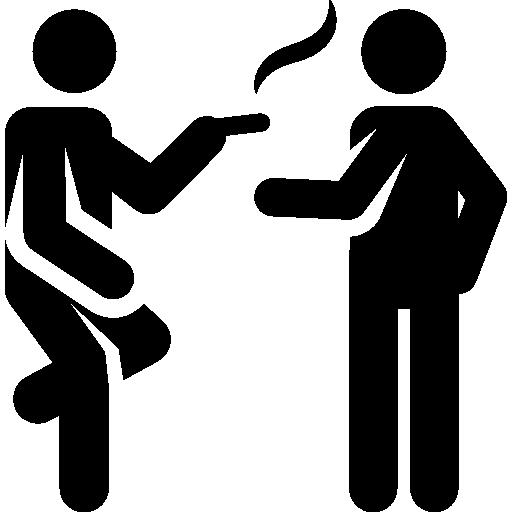 family restaurants for valentine's day - people Break smoking Cigar Humanpictos icon