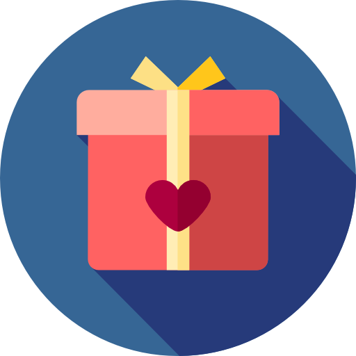 Birthday Gift Present Surprise Love And Romance Icon