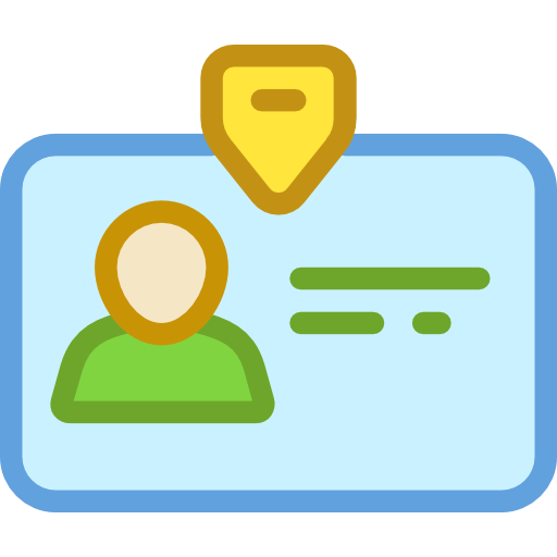 identity user pass business identification id card icon