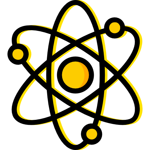 Electron, physics, Atoms, science, Atomic, education, nuclear icon