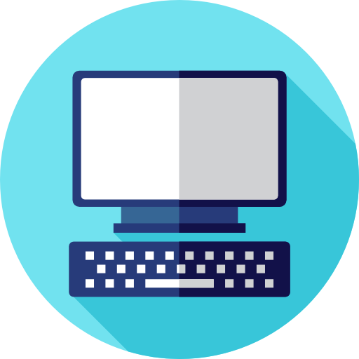 Desktop Flat Icons: Tv, Computer, Monitor, Screen, Television, Pc, Technology Icon