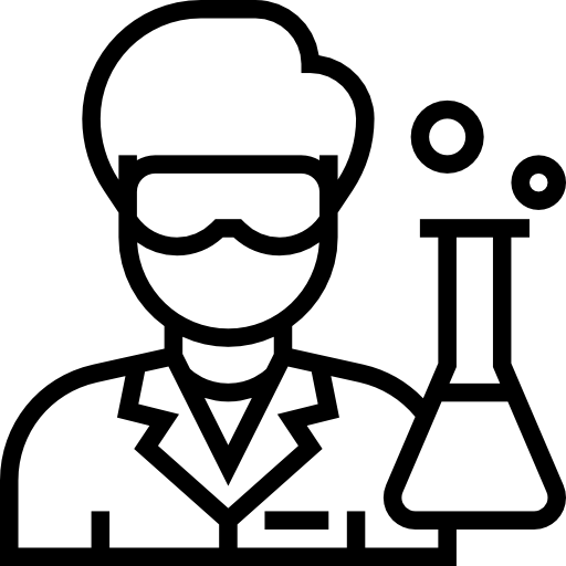 Chemistry Laboratory Tools And Devices Black And White ... |Lab Chemist Drawings