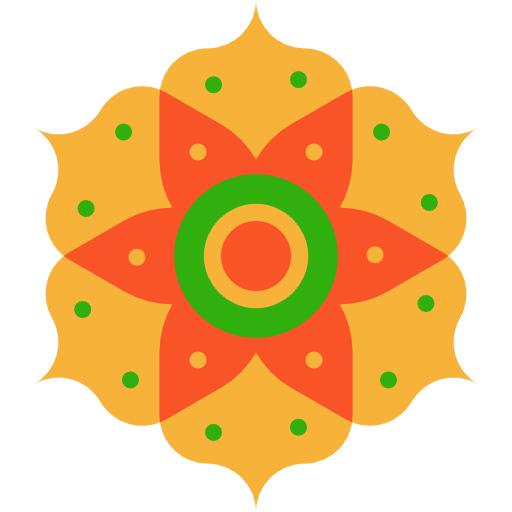 India Pattern Decoration Hinduism Cultures Icon