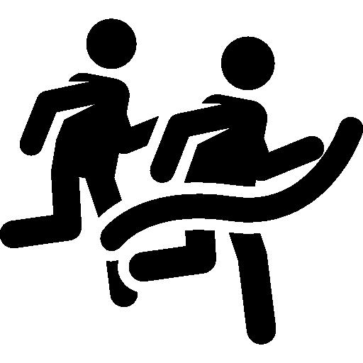 Running race winner