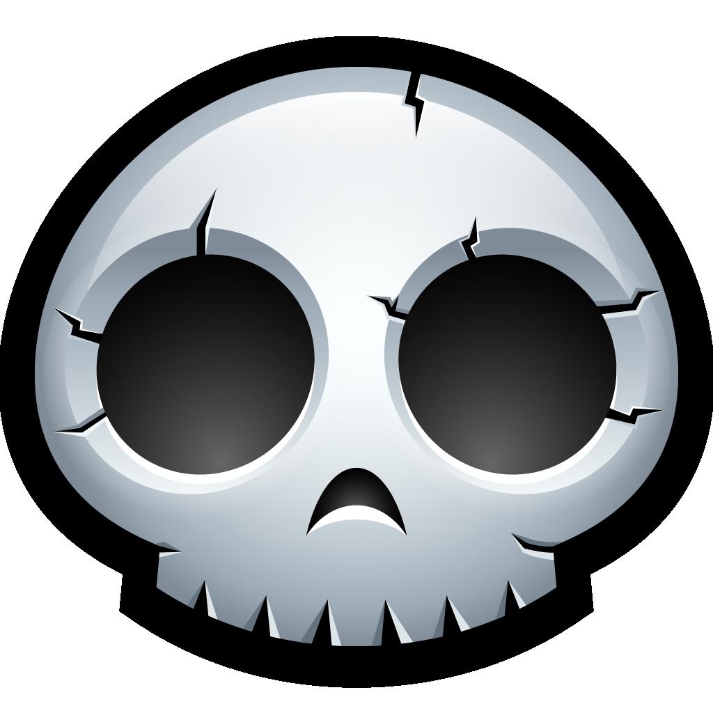 Monster Skeleton Bones Dead Skull Halloween Icon