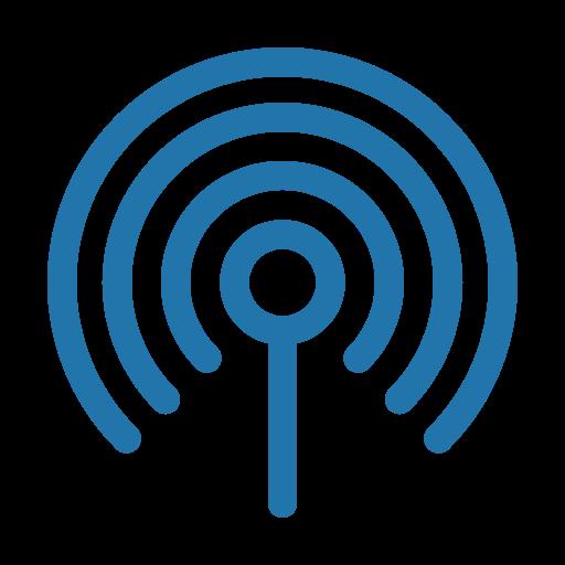internet, line, antenna icon