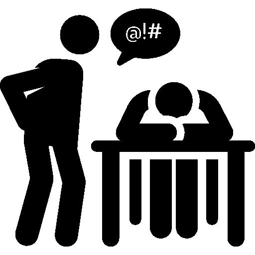 People Education Student Teacher Boring Humanpictos Icon