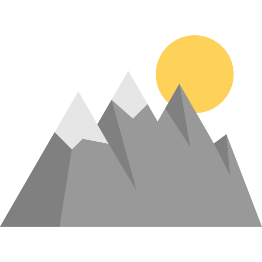 Goal Mountain Mountains Nature Landscape Icon