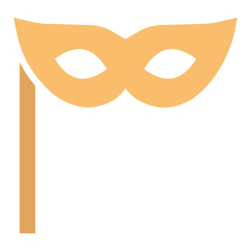 festival art mask theatre carnival new year stage icon