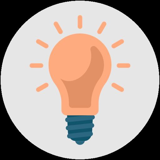 Genius Bright Productivity Idea Light Bulb