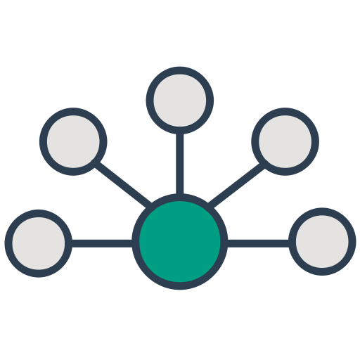 Network Connection Interaction Communication Api Integration Icon