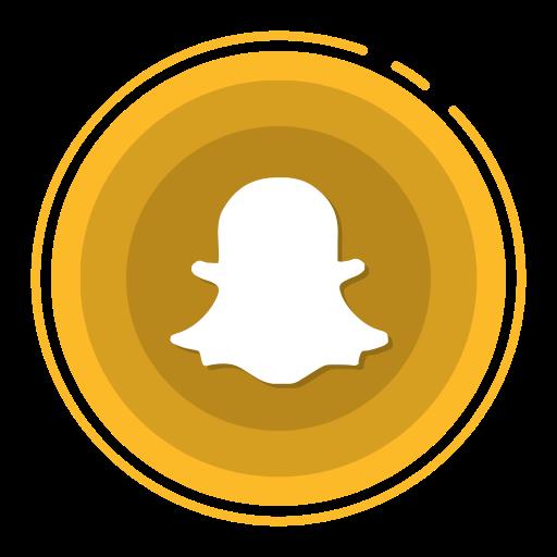 Orange Real Estate Logotypes: Social Media Icons, Snapchat Icon