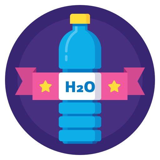 Drink Sport Badge Water Bottle H2o Hydration Icon