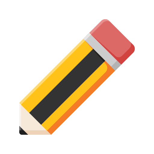 pencil, learn, education, student, study icon