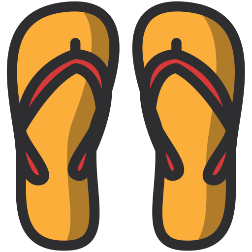 Holidays Summer Slippers Beach Icon