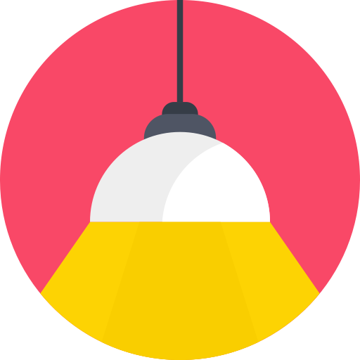 Landscape Lighting Icon: Fitting, Light, Lamp, Shade, Lights, Lampshade Icon