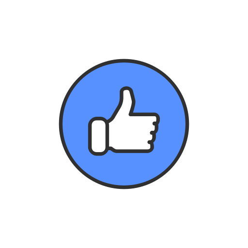 like facebook emoji like button icon