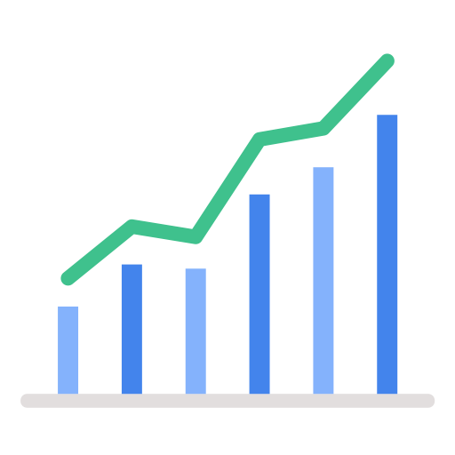 marketing sales chart graph business report icon