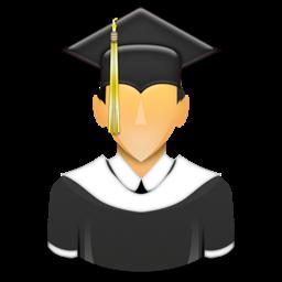 Learner School University Graduated Student Icon